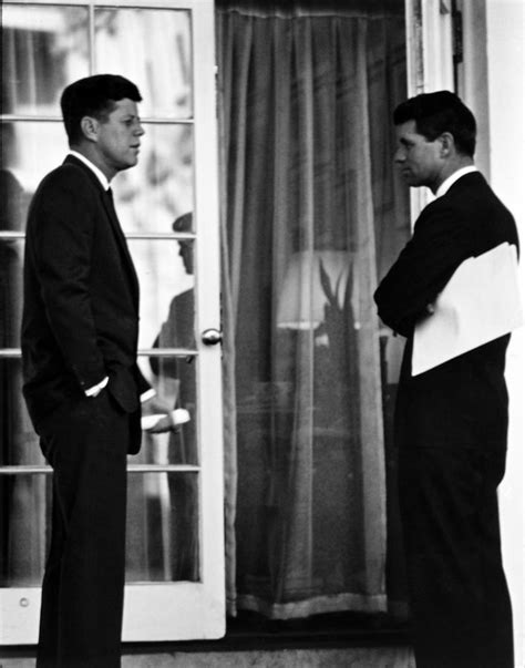 Oval Office Decor History president john kennedy and robert kennedy photograph by