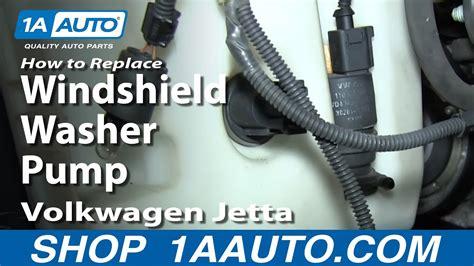 replace washer pump   volkswagen jetta youtube