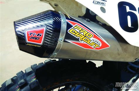 motocross pro mxa team tested pro circuit ti 6 ktm 450sxf exhaust
