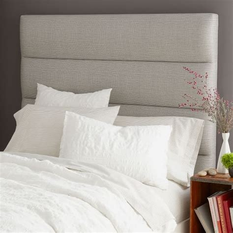 how to make a panel headboard panel tufted headboard west elm