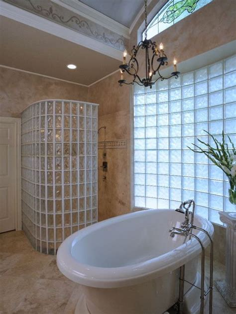 Bathroom Showers Ideas Pictures Glass Block Walk In Shower Home Design Ideas Pictures Remodel And Decor