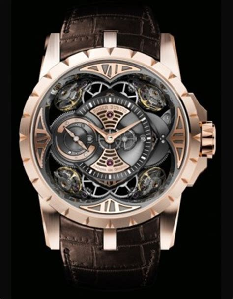 Roger Dubuis Horloger Skeleton Black mens roger dubuis watches