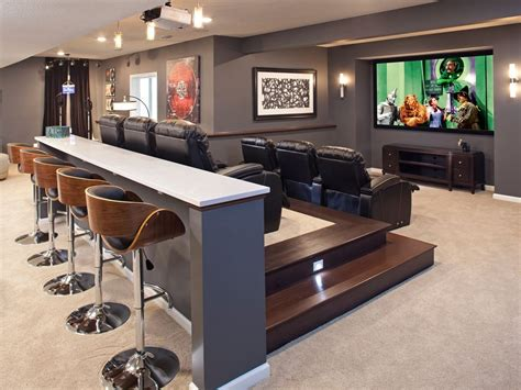 contemporary basement cave home decorating trends