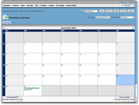 Calendar View Web2project Documentation Calendar Module
