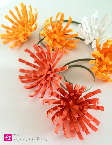 How To Make Paper Mums - how to make quilling paper mums the papery craftery