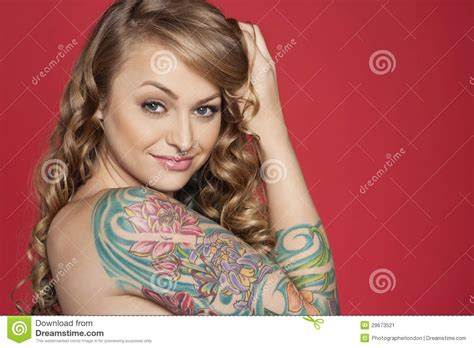 beautiful tattooed ladies portrait of beautiful tattooed colored