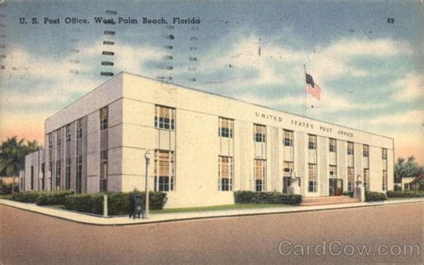 West Palm Post Office by U S Post Office West Palm Fl