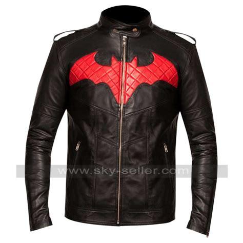 Batman Black Jaket batman logo black leather jacket