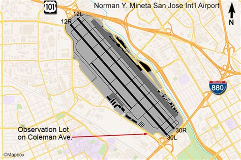 san jose airport map san jose airport planespotting flightline aviation media