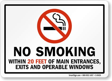 No Smoking Sign Requirements California | image gallery no smoking signage requirements