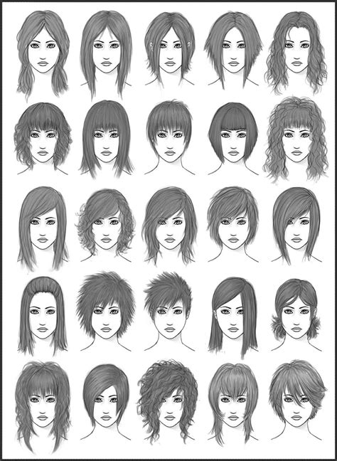 basic looking womens hairstyles women s hair set 2 by dark sheikah on deviantart