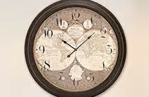 rustic crackle face oversize wall clock transitional wall clocks keep time in every room ls plus