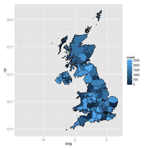 ggplot theme map colors r gradient plot on a shapefile stack overflow