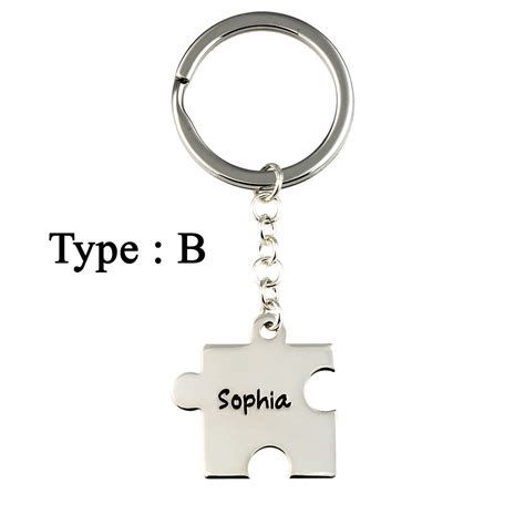 Personalized Puzzle Keychain aj s collection personalized jewelry puzzle keychain