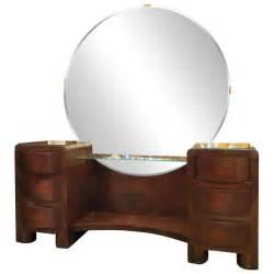 Round Mirror Vanity Art Deco Vanity With Round Mirror At 1stdibs