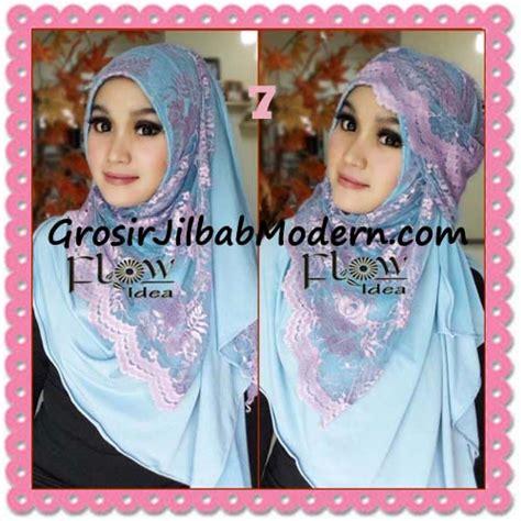 Mukena Biru Langit jilbab instant cantik syria pashmina terbaru lacenza by