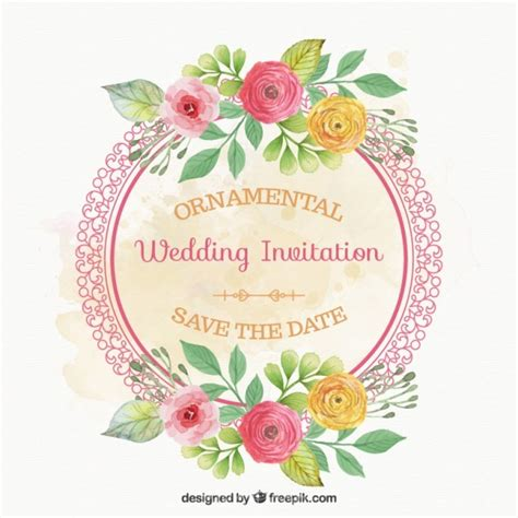 Wedding Card Vector Ai by Ai Rounded Frame With Flowers Wedding Card Vector Free