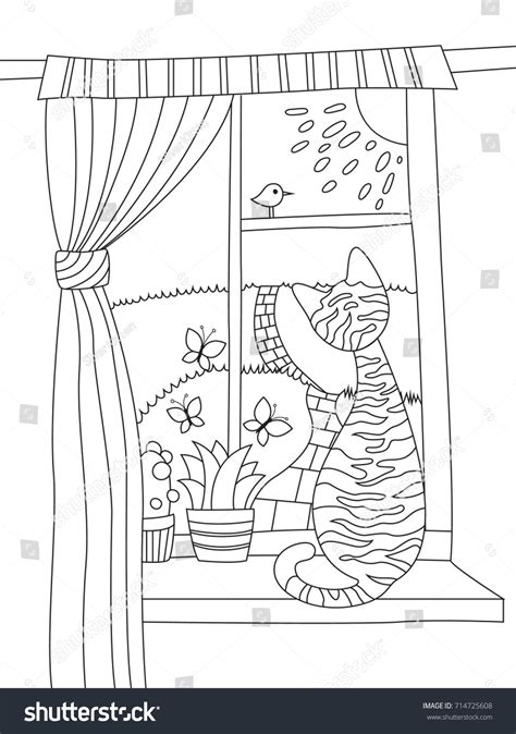 anti stress colouring book doodle and outlined doodle antistress coloring book page stock vector