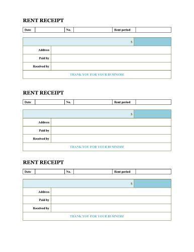 monthly rent invoice template from free rent receipts templates free
