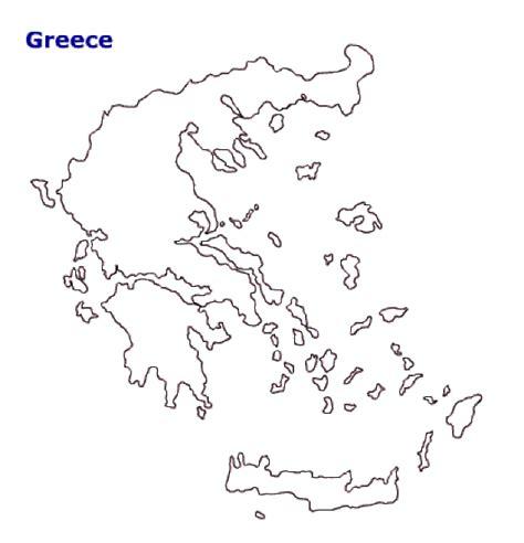 printable area traduccion map of greece terrain area and outline maps of greece
