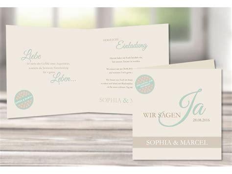 Moderne Einladungskarten Hochzeit by Einladungskarte Hochzeit Moderne Pastellfarben Quot Mint Quot