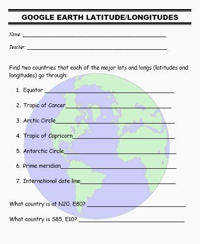 globe maps and lines of latitude worksheet how to teach geography with earth part i ask a