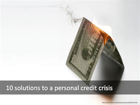10 Reasons To The Credit Crunch by 10 Solutions To Personal Credit Crunch