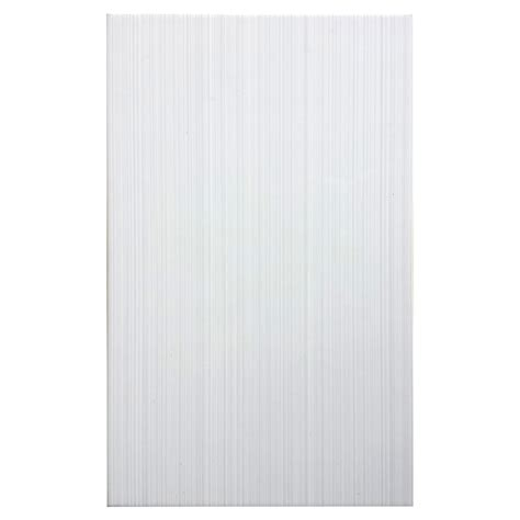 shop style selections blairlock white ceramic wall tile common 10 in x 16 in actual 15 66 in