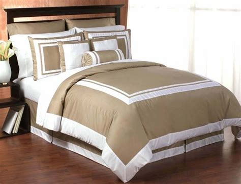 taupe and white hotel duvet comforter cover 6 pc bedding