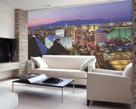 wall murals vegas lights c836 wall mural