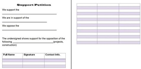 Petition Template Online Petition All Form Templates Blank Petition Template