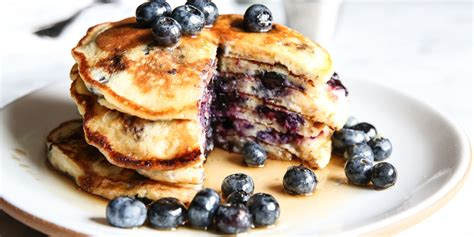 blueberry pancake easy homemade blueberry pancakes recipe how to make
