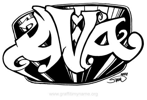 Awesome Graffiti Coloring Pages #4: Ava.png