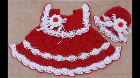 tejidos elegantes de crochet vestidos tejidos a crochet para bebe de 0 3 meses youtube