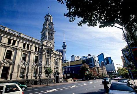 tattoo auckland queen street the old auckland town hall with the sky tower beyond
