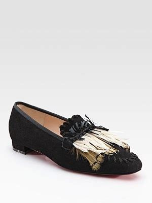 cigarette loafers christian louboutin croc woodoo suede slippers