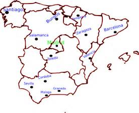 map of spain with cities clip art at clker com vector