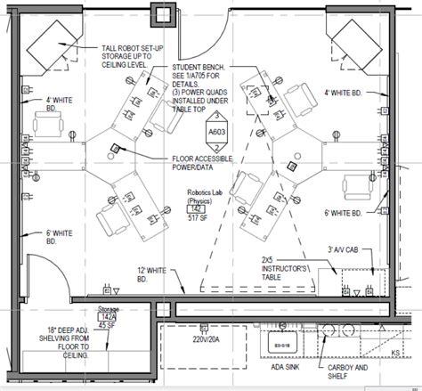 physics lab floor plan physics robotics lab