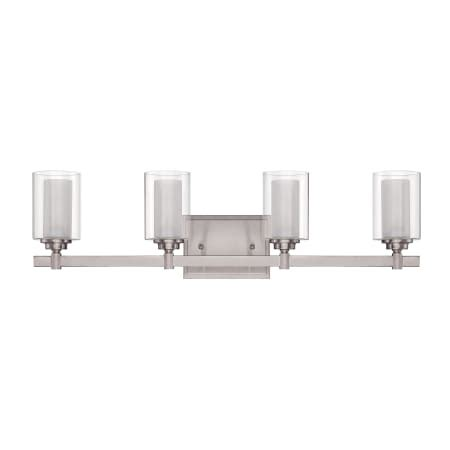 Jeremiah Bathroom Lighting Jeremiah Lighting 16727bnk4 Brushed Polished Nickel Celeste 4 Light Bathroom Vanity Light 26