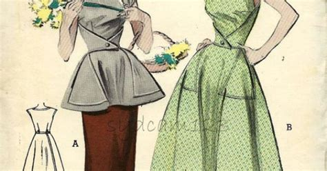 pattern for triangle apron vintage 1950s walkaway dress or cobblers apron triangle