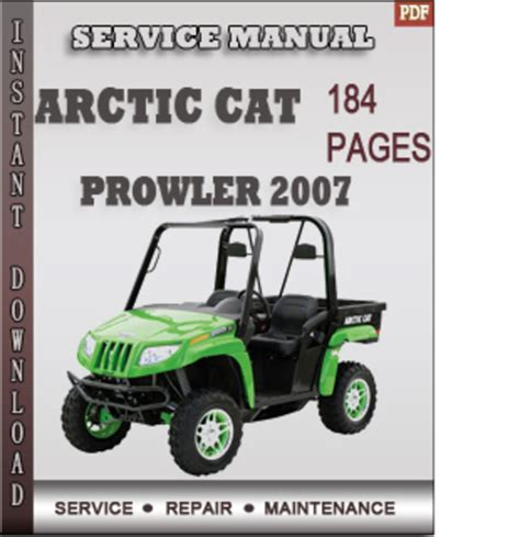 Arctic Cat Prowler 2007 Factory Service Repair Manual