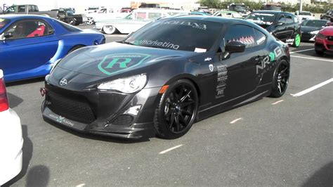 nissan brz black scion frs on 19 quot staggered rohana rc10 wheels with matte