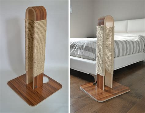 new modern scratching post from huve collection hauspanther