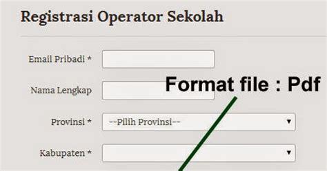 contoh surat tugas registrasi operator sekolah 28 images info