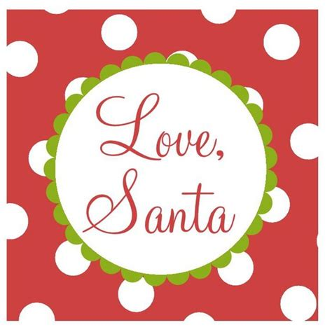 personalized christmas gift tag stickers red and white