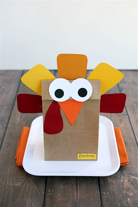 Make A Paper Turkey - 20 and crafty paper bag turkey projects guide patterns