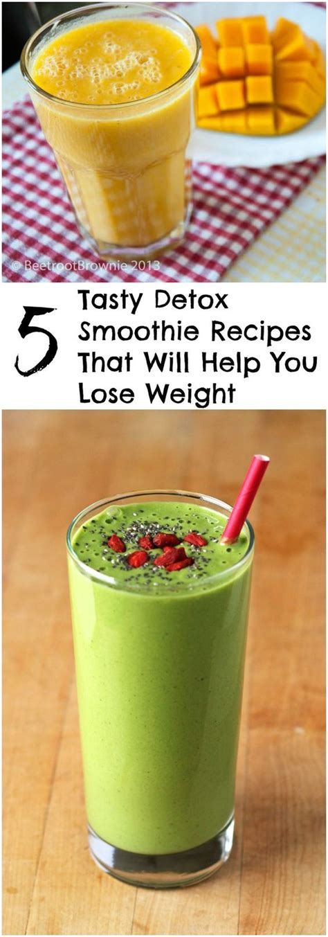 Tasty Detox Recipes by 5 Tasty Detox Smoothie Recipes That Will Help You Lose