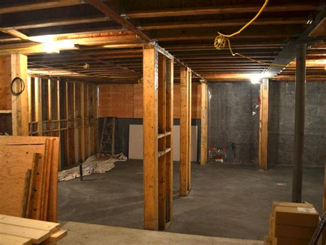 wood basement dunbar house wall and floor framing 171 home building in