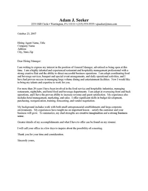 Management Cover Letter Exles For Resume Resume Format Resume Cover Letter For Manager
