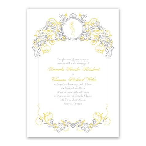 Princess Theme Wedding Invitations by Disney Tale Filigree Invitation Invitations